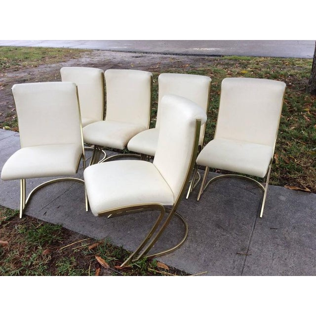 Pierre Cardin Vintage Brass Dining Chairs - Set of 6 For Sale In West Palm - Image 6 of 12