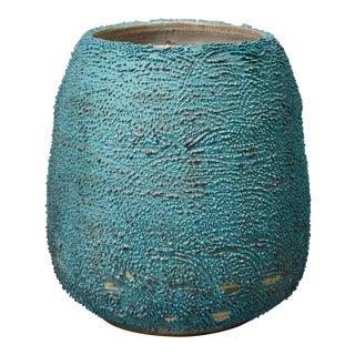 Unique, hand-thrown Accretion vase
