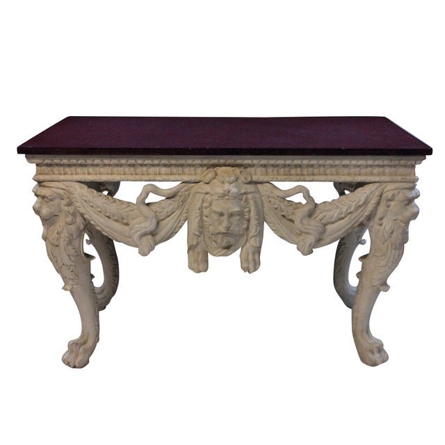 1900s A Large Country House Console Table With a Solid Porphyry Top For Sale - Image 5 of 8