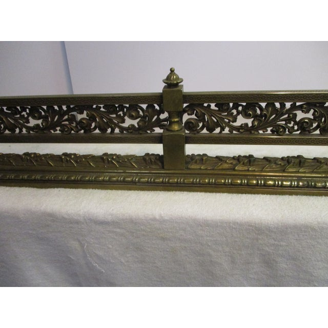 Art Nouveau French Style Bronze Fire Fender For Sale - Image 3 of 8