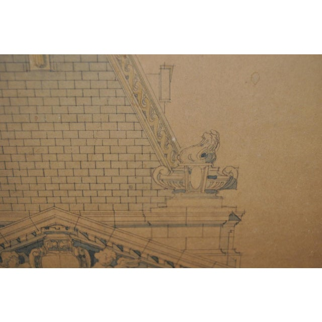 18th/19th Century Master Architectural Drawings For Sale - Image 4 of 11