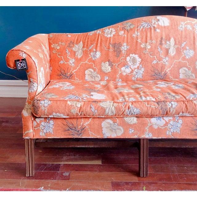 Baker Furniture Company Vintage Baker Camelback Sofa For Sale - Image 4 of 12