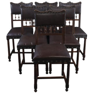 Dining Chairs Art Nouveau Antique French - Set of 6 For Sale
