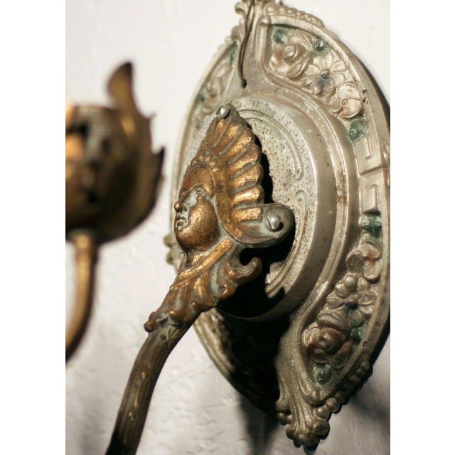 Neoclassical Wall Sconce For Sale - Image 4 of 4