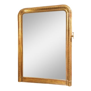 """Pair Antique Early 19th Century """"Louis Philippe"""" Gold Mirrors, Circa 1840-1850."""