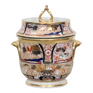 1810 English Coalport Fruit Cooler, Admiral Nelson Pattern For Sale