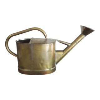 Antique Flemish Brass Watering Can For Sale