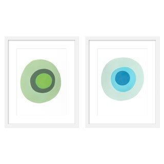 "Medium ""Aloe and Larimar, a Pair"" Print by Neicy Frey, 34"" X 21"" For Sale"
