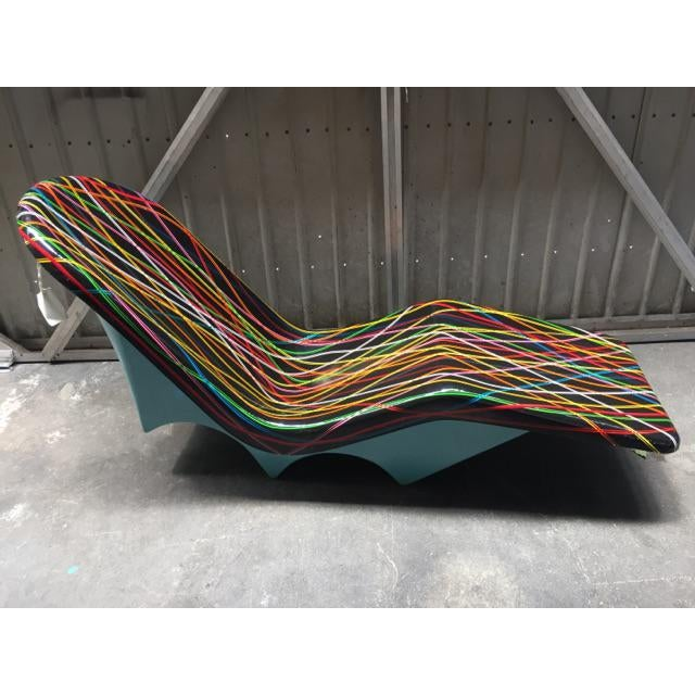 Mid-Century Fibrella Lounger Art Piece - Image 4 of 6