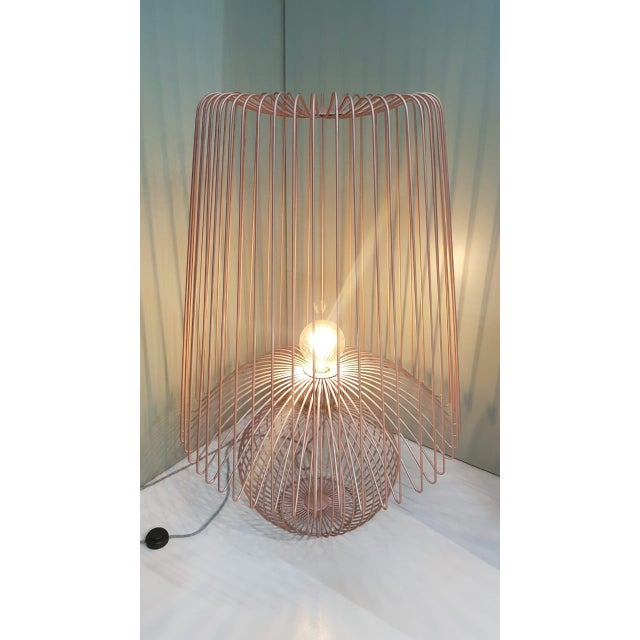 Not Yet Made - Made To Order Oversized Metal Floor Lamp Koy in Rose Gold For Sale - Image 5 of 6