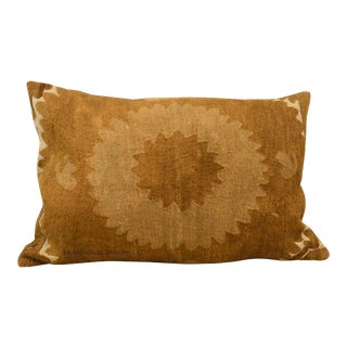 Vintage Samarkand Down Feather Lumbar Pillow For Sale