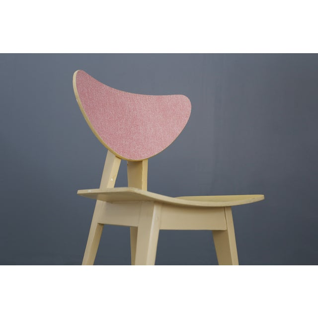 Set of Chair MidCentury Attributed to Gianni Vigorelli in Wood and Formica, 1950 For Sale - Image 6 of 8