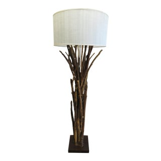 Natural Twig Driftwood Floor Lamp For Sale