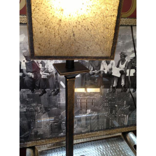 Square Crackle Glass Buffet Lamp - Image 3 of 6