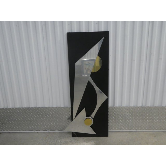 Metal 1990s Wild Chrome and Brass Modernist Kinetic Wall Sculpture For Sale - Image 7 of 8