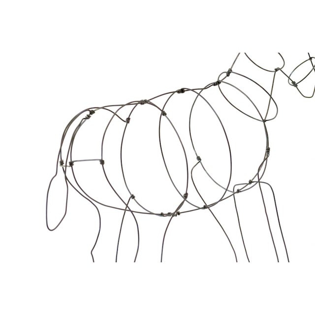 Wire Donkey Sculpture - Image 4 of 5
