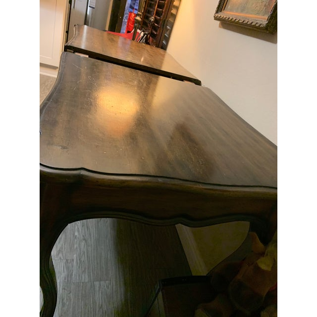 French Louis XV Mahogany Solid Wood Table For Sale - Image 4 of 13