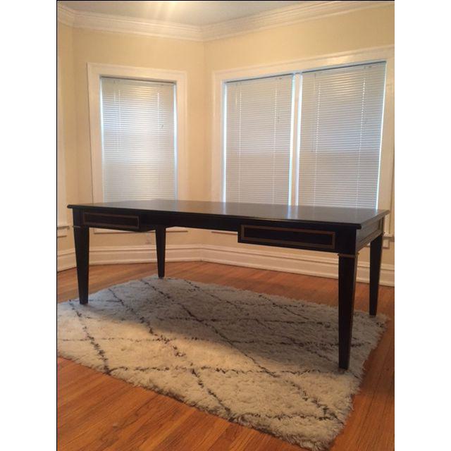 Black Custom Partner Desk For Sale - Image 9 of 9