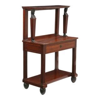 Early 19th Century Empire Parcel Ebonized Mahogany Dressing Table For Sale