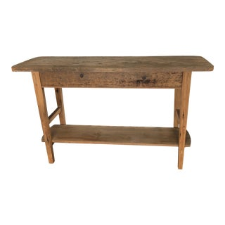 French Country Pine Console Table For Sale