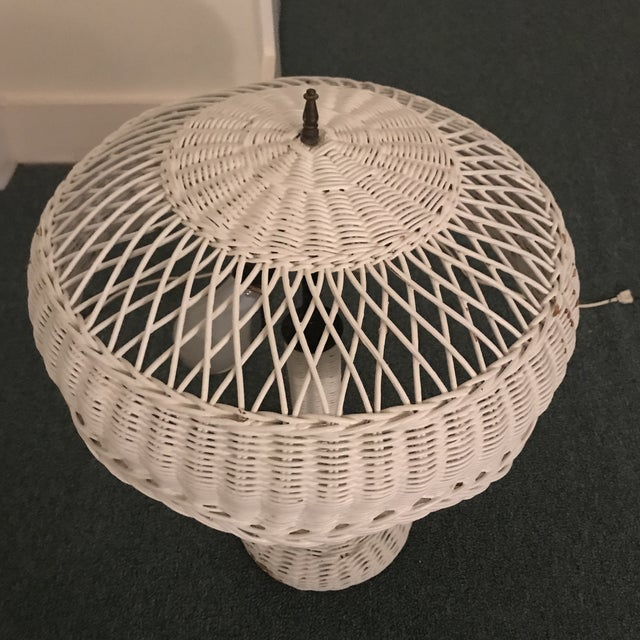 1950s Vintage Wicker Lamp For Sale - Image 9 of 13