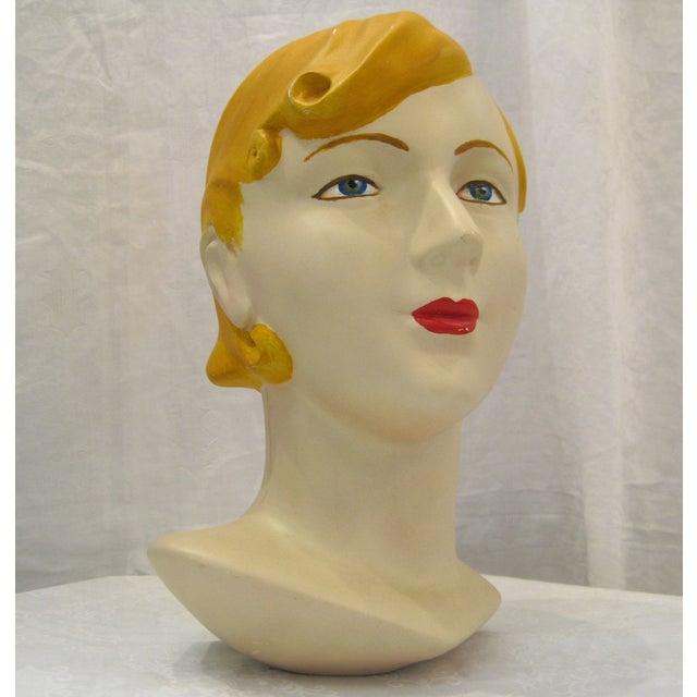 Blonde Vintage Mannequin Head - Image 2 of 6
