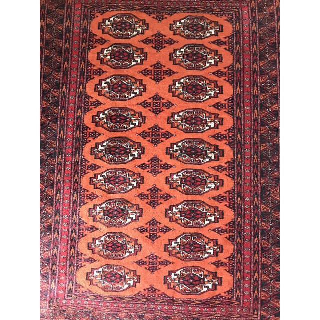 Hand Knotted Vintage Rug - 4′ × 6′2″ For Sale - Image 4 of 8