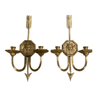 1920s Caldwell Medusa Head Sconces - a Pair For Sale