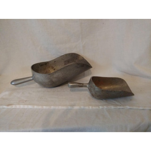 Vintage 1940's Farm Scoops - A Pair For Sale - Image 4 of 6