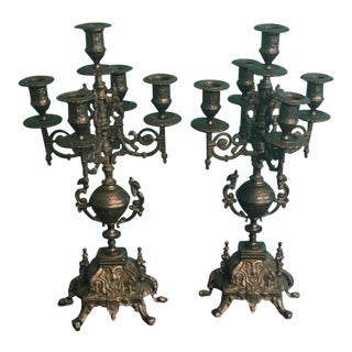 Vintage Baroque Candelabras - A Pair
