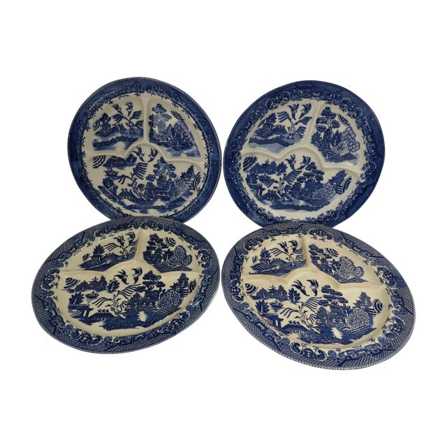Blue Willow Grill Plates - Set of 4 - Image 1 of 8