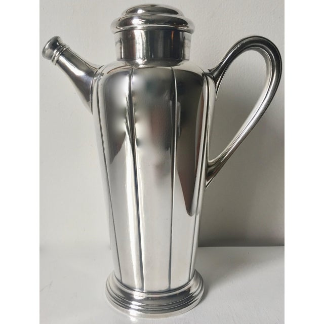 Art Deco Silver Cocktail Shaker For Sale - Image 4 of 10