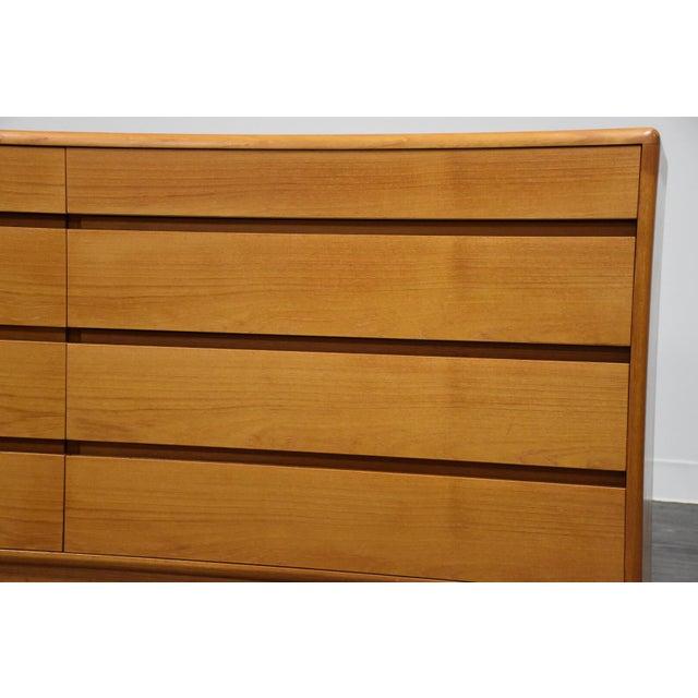 Orange Danish Modern Teak Dresser by Nordisk Andels-Eksport For Sale - Image 8 of 12