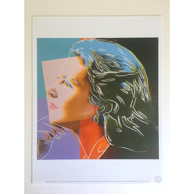"Andy Warhol Andy Warhol Estate Rare Vintage 1989 Collector's Pop Art Lithograph Print "" Ingrid Bergman "" 1983 For Sale - Image 4 of 9"