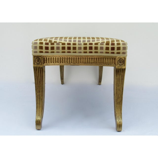 Gilt French Empire Style Interior Crafts Bench For Sale In West Palm - Image 6 of 13