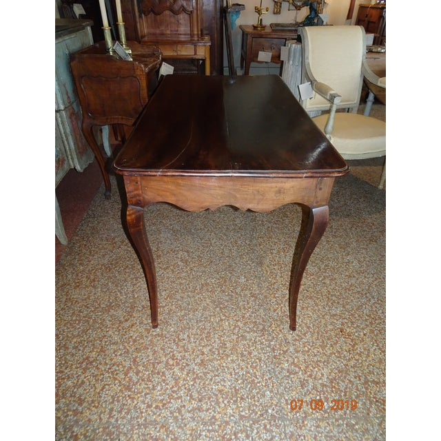 French Louis XV Epoch Walnut Desk For Sale - Image 3 of 12