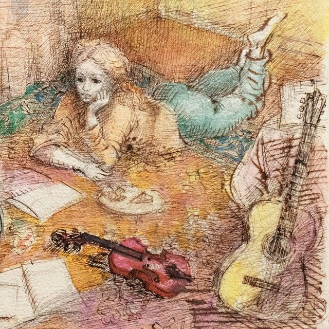 'Jeudi à La Maison' by Lucien Philippe Moretti, French Post-Impressionist, Ecole Des Beaux-Arts For Sale In Monterey, CA - Image 6 of 10