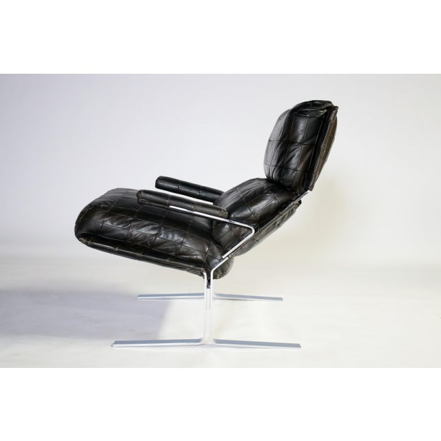 Richard Hersberger for Saporiti Lounge Chair and Ottoman For Sale - Image 10 of 12