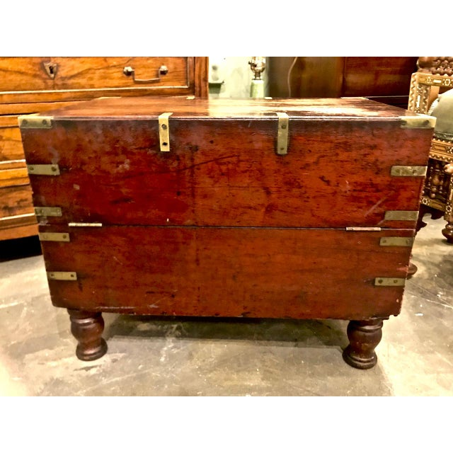 This is an unusual example of an early 19th century. English officer's campaign chest or trunk. The trunk retains its...