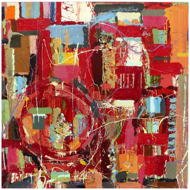 """William P. Montgomery Abstract Mixed Media Painting """"Rocket Science #1"""" For Sale - Image 13 of 13"""