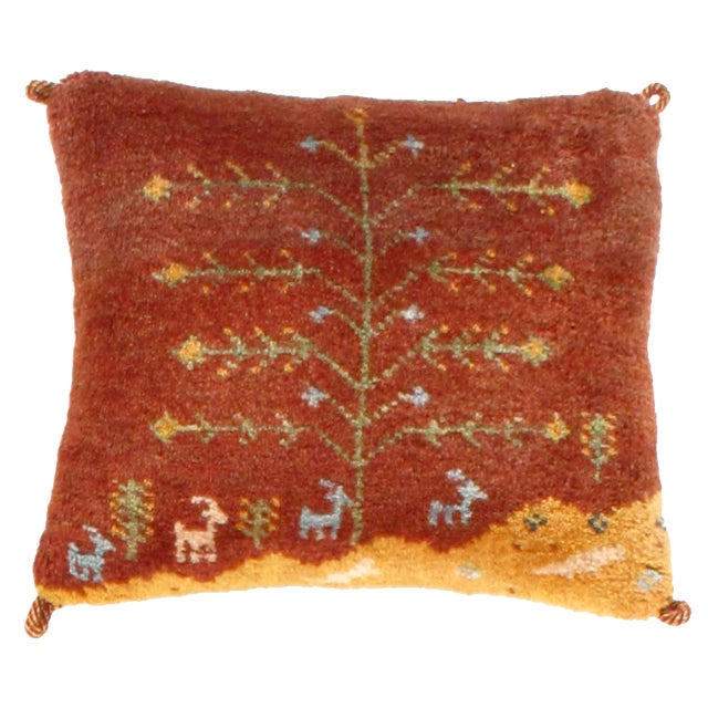 Islamic Persian Gabbeh Lori Baft Pillow For Sale - Image 3 of 3
