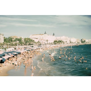 1960s Vintage French Riviera Beach Photograph Print (Large: 24 X 16 Inches) For Sale