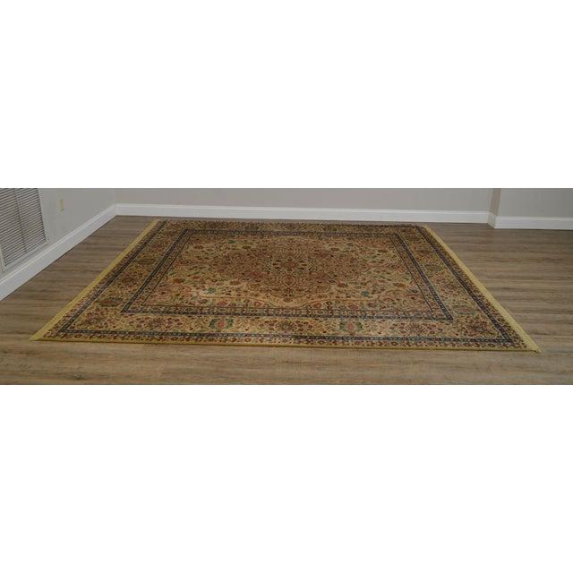 """Traditional Karastan Samovar Tea Wash Tabriz Medallion 8' 8"""" x 10' Room Size Rug For Sale - Image 3 of 12"""