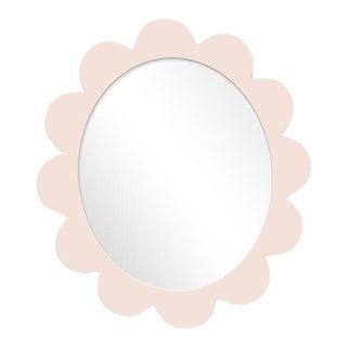 Fleur Home x Chairish Iris Oval Mirror in Pink Ground, 31x26 For Sale