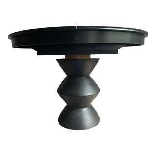 Memphis Style Pedestal Extension Dining Table For Sale