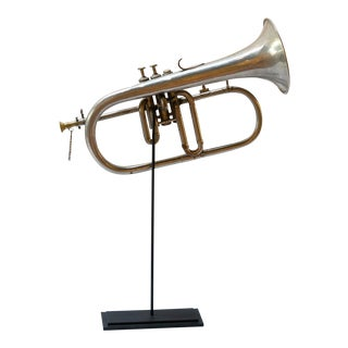 Vintage Trumpet on Stand For Sale