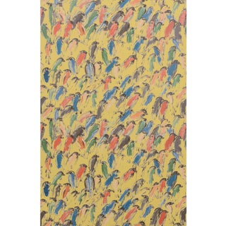 Hunt Slonem for Lee Jofa, Finches Wallpaper Roll, Multi/Gold, 10 Yards For Sale