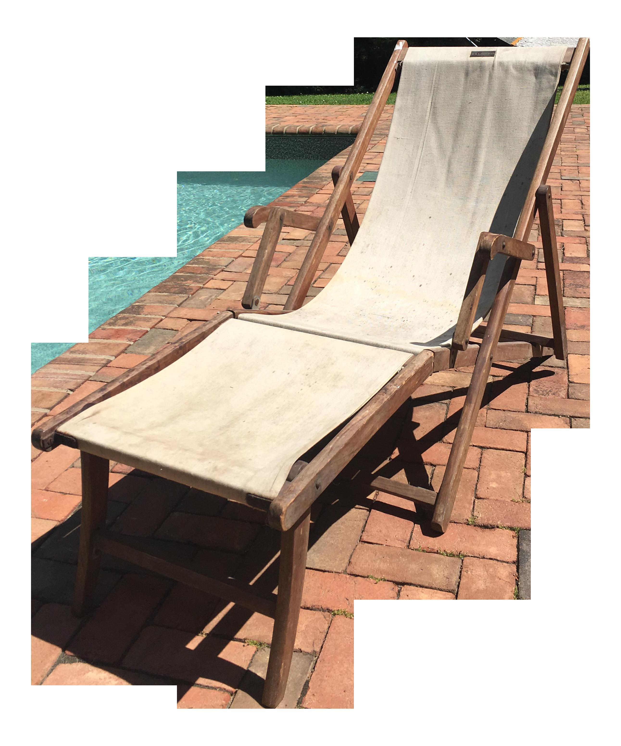 Vintage HMS Queen Mary Deck Lounge Chair, Circa 1936