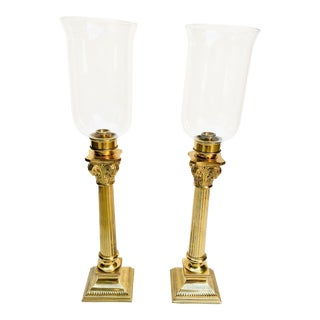Late 20th Century Vintage Brass Candle Sticks - A Pair