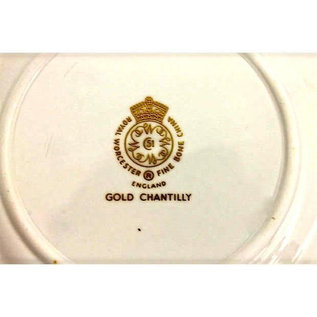 Royal Worcester Gilded Plates - Pair - Image 6 of 6